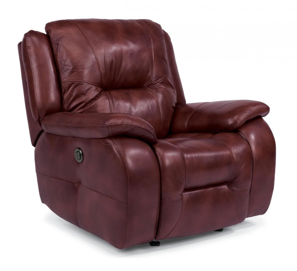 Stupendous Zachary Leather Power Gliding Recliner 153554P Leather Bralicious Painted Fabric Chair Ideas Braliciousco