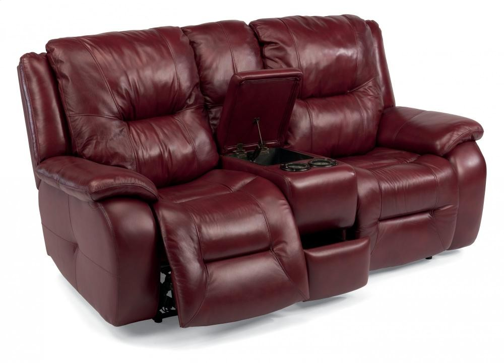 Awe Inspiring Zachary Leather Power Reclining Loveseat With Console Bralicious Painted Fabric Chair Ideas Braliciousco