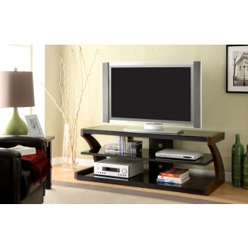 47-Inch Modern TV Console - Cherry Finish