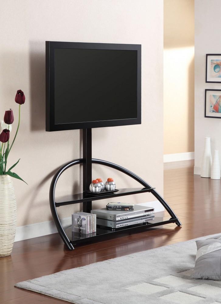 48 Inch Modern Tv Console Black Finish Tv Stand D L Furniture
