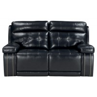 Graford - Navy - PWR REC Loveseat/ADJ Headrest