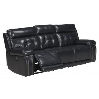 Graford - Navy - PWR REC Sofa with ADJ Headrest