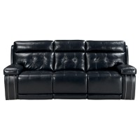 Graford - Navy - PWR REC Sofa with ADJ Headrest