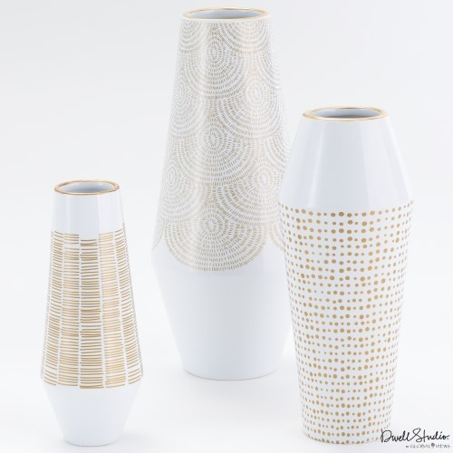 Ballinger Vase-Gold-Med