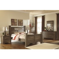 Allymore 6 Pc. Bedroom - Dresser, Mirror & Queen Poster Bed