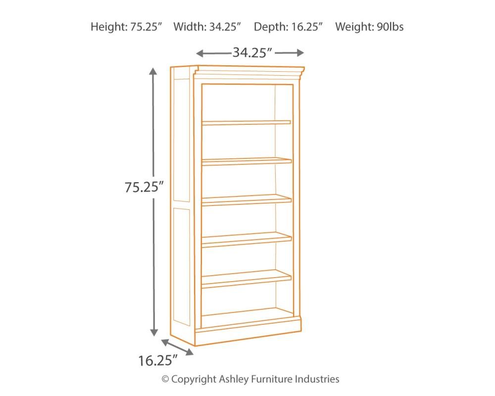 Townser - Grayish Brown - Bookcase
