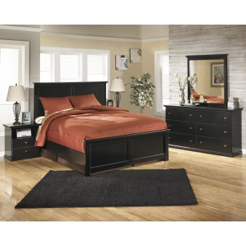 Maribel 7 Pc. Bedroom - (3-Pc. Queen Panel Bed, Dresser, Mirror, Chest & Nightstand)