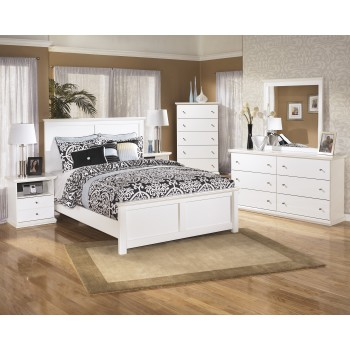 Bostwick Shoals 7 Pc. Bedroom - (3-Pc. Queen Panel Bed, Dresser, Mirror, Chest & Nighstand)