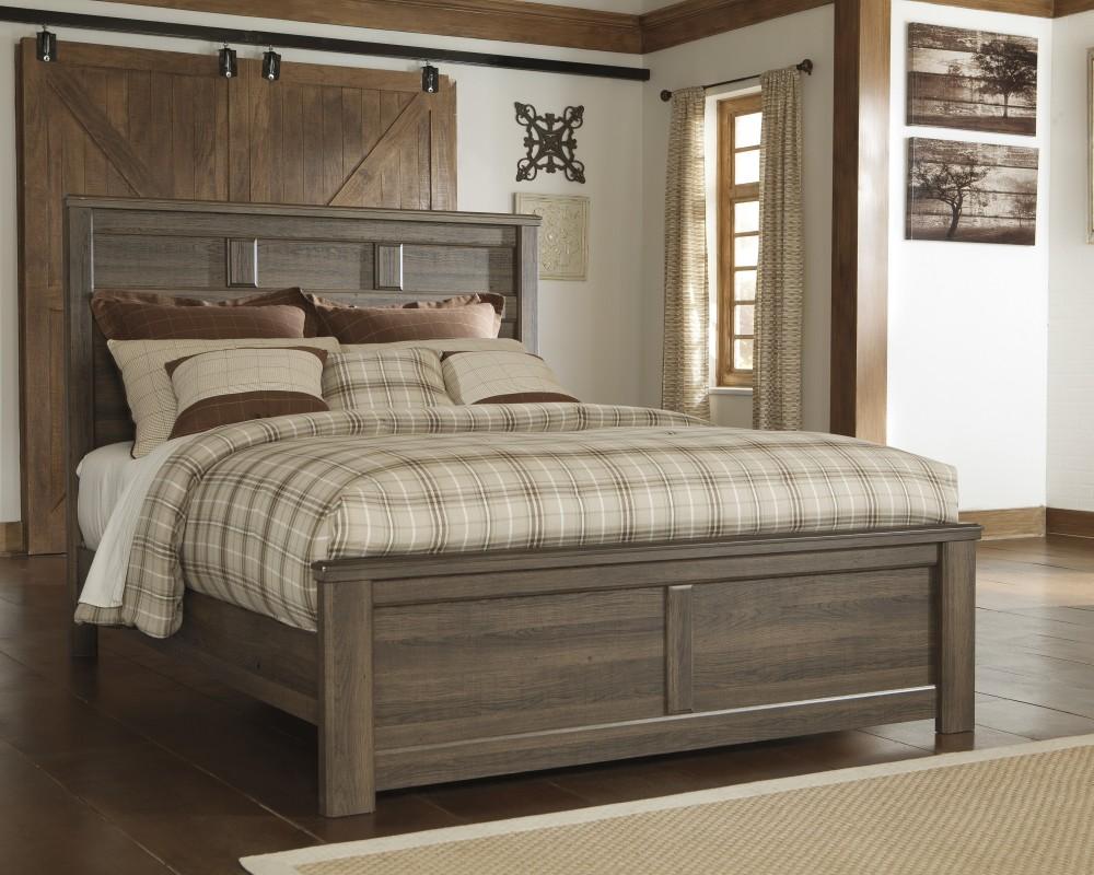 Juararo 7 Pc. Bedroom - (3 Pc. Queen Panel Bed, Dresser, Mirror, Chest &  1-Drawer Nighstand)