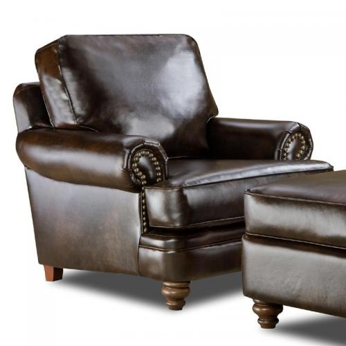 Drama Tobacco/Athens Chocolate Accent Chair