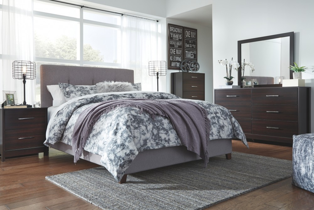 Pruitts Bedroom Furniture: Dolante - Multi - Queen Upholstered Bed