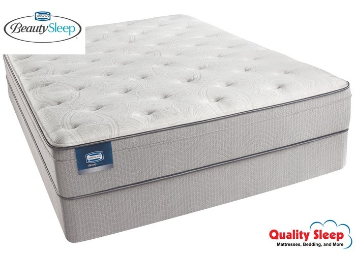 Simmons Beautysleep Series Areca Palm Plush Eurotop Mattress Set