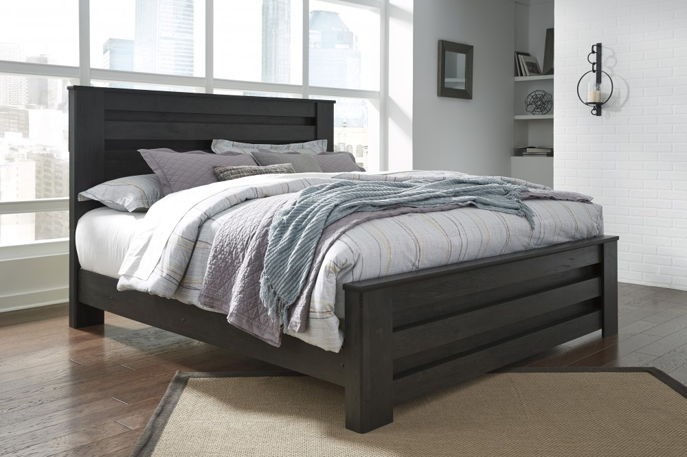Brinxton Black Kingcal Poster Bed B249666899 Complete