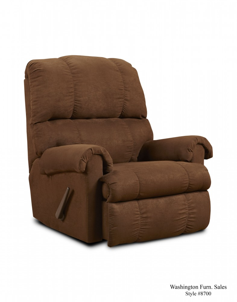 8700 Flatsuede Chocolate Recliner