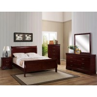 Crown Mark B3800 Cherry Queen Bed