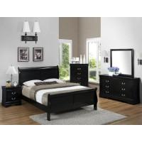 Crown Mark B3900 Black Queen Bed