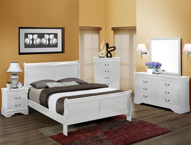 Crown Mark B3600 White Dressermirror B3600 Dresser Mirror