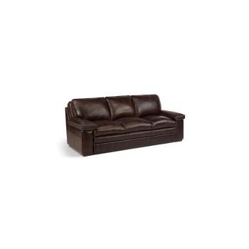 Penthouse Dark Brown Leather Sofa