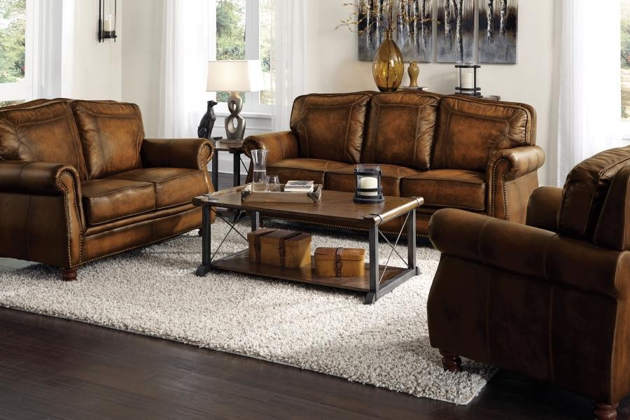 Montbrook Traditional Brown Two-Piece Living Room Set | 503981-S2 ...