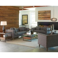 Ellery Grey Three-Piece Living Room Set