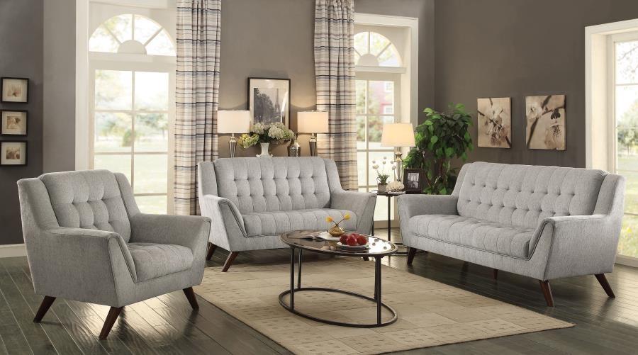 Baby Natalia Mid-Century Modern Beige Three-Piece Living Room Set