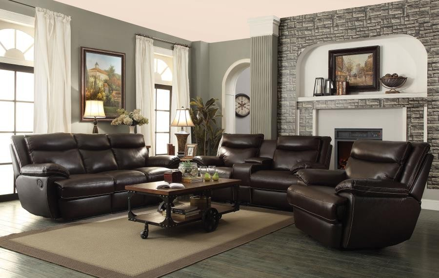 MACPHERSON MOTION COLLECTION - MacPherson Motion Brown Three-Piece Living Room Set