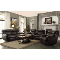 MACPHERSON MOTION COLLECTION - MacPherson Power Motion Brown Three-Piece Living Room Set