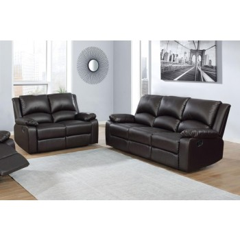 BOSTON MOTION COLLECTION - Boston Brown Reclining Two-Piece Living Room Set