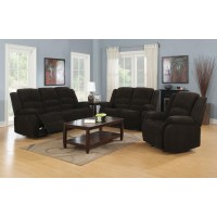 GORDON MOTION COLLECTION - Gordon Chocolate Reclining Three-Piece Living Room Collection