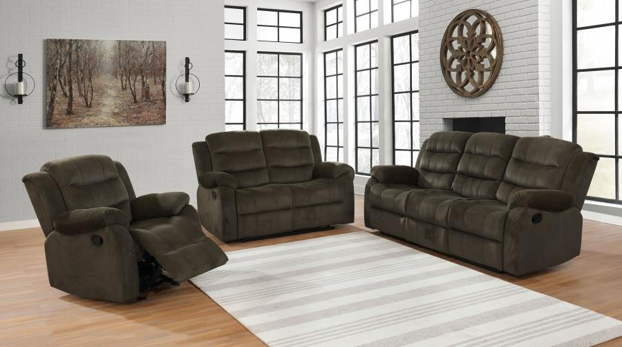 Really Feel Comfy With Black Living Room Furniture 3pc (sofa + Love + Recliner)