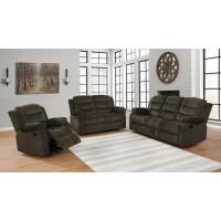 RODMAN MOTION COLLECTION - Rodman Chocolate Reclining Three-Piece Living Room Set