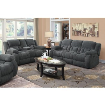 WEISSMAN MOTION COLLECTION - Weissman Grey Two-Piece Living Room Set