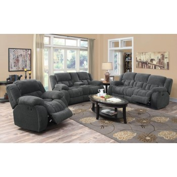 WEISSMAN MOTION COLLECTION - Weissman Grey Three-Piece Living Room Set