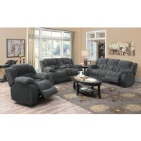 WEISSMAN MOTION COLLECTION - Weissman Grey Three-Piece Living Room Set