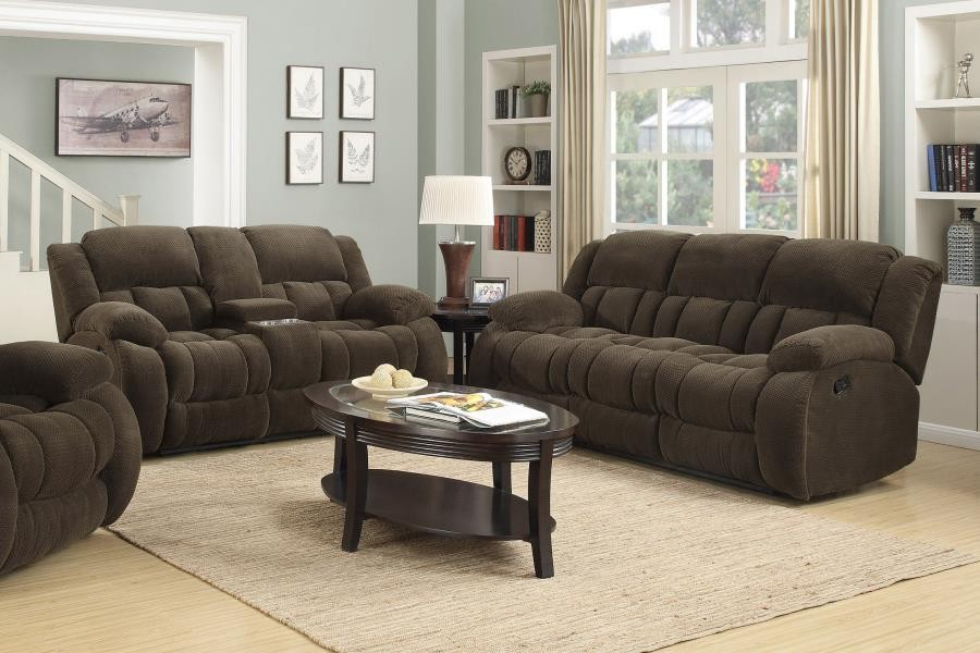 WEISSMAN MOTION COLLECTION - Weissman Brown Two-Piece Living Room Set