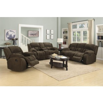 WEISSMAN MOTION COLLECTION - Weissman Brown Three-Piece Living Room Set