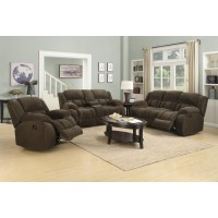 WEISSMAN MOTION COLLECTION - Weissman Brown Three-Piece Living Room Set