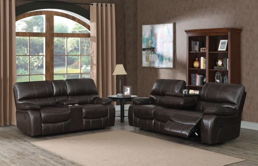 WILLEMSE MOTION COLLECTION - Willemse Chocolate Reclining Two-Piece Living Room Set