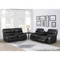WILLEMSE MOTION COLLECTION - Willemse Dark Brown Reclining Two-Piece Living Room Set