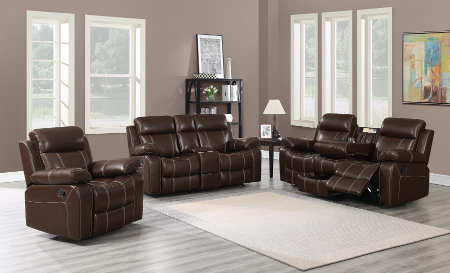 Surprising Myleene Motion Collection Myleene Chestnut Leather Three Piece Living Room Set Pdpeps Interior Chair Design Pdpepsorg
