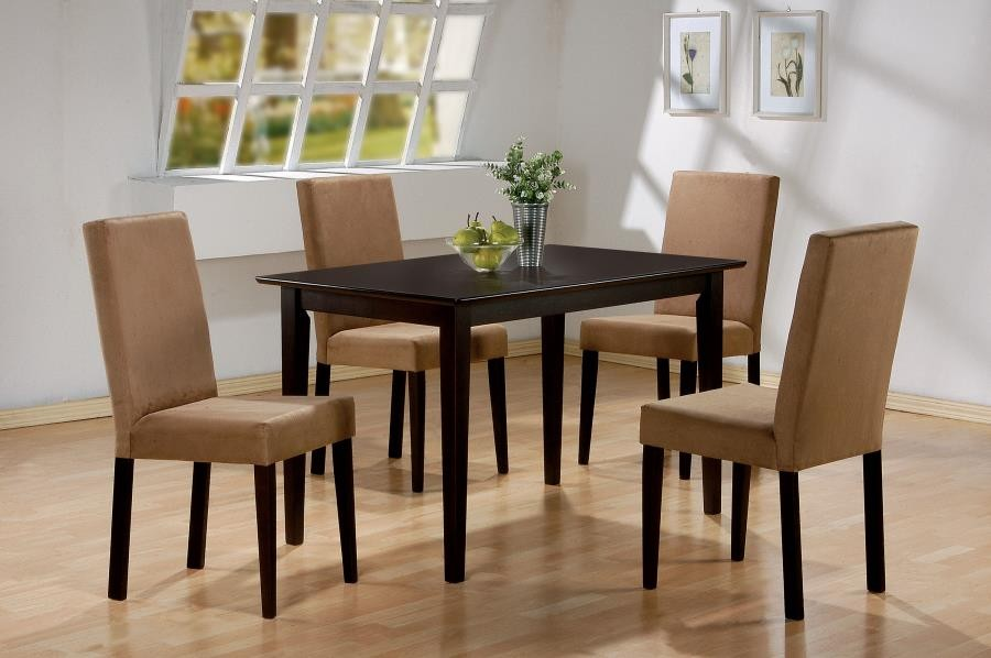Pleasant 5Pc Set Tbl 4 X 100492Chairs Andrewgaddart Wooden Chair Designs For Living Room Andrewgaddartcom