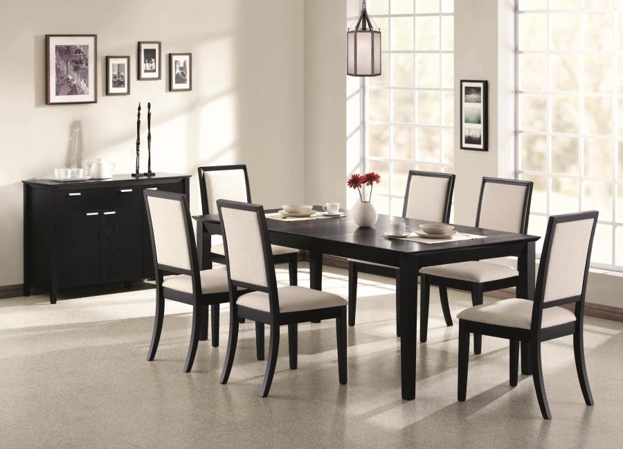 Louise Transitional Five Piece Dining Set 101561 S5 Dining Room