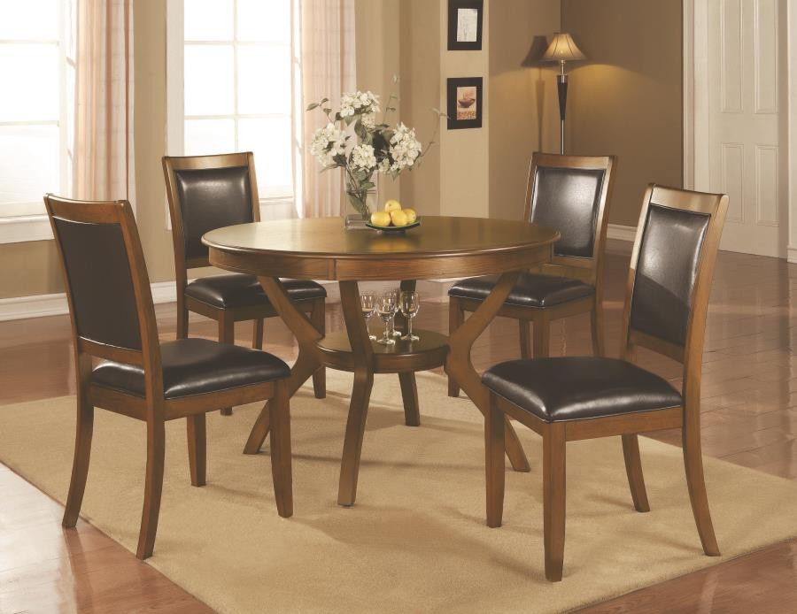 Nelms Casual Brown Walnut Five Piece Dining Set 102171 S5 Dining