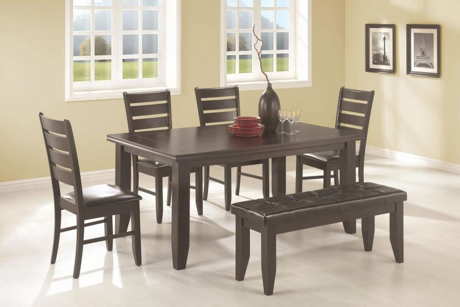 Dalila Casual Cappuccino Five Piece Dining Set 102721 S5 Dining