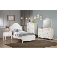 Dominique French Country White Twin Five-Piece Set