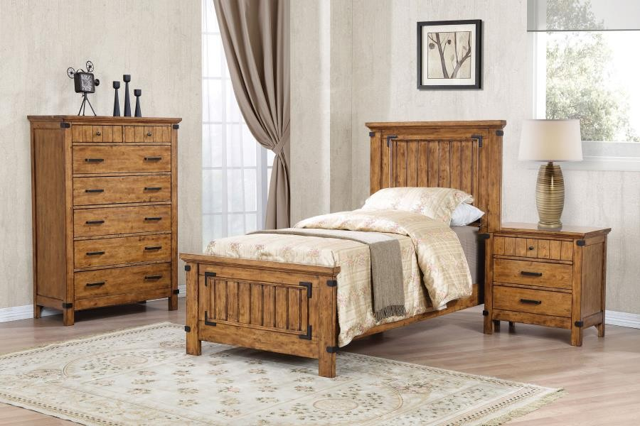 Brenner Rustic Honey Twin Four-Piece Set