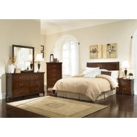 Tatiana Warm Brown Queen Five-Piece Bedroom Set