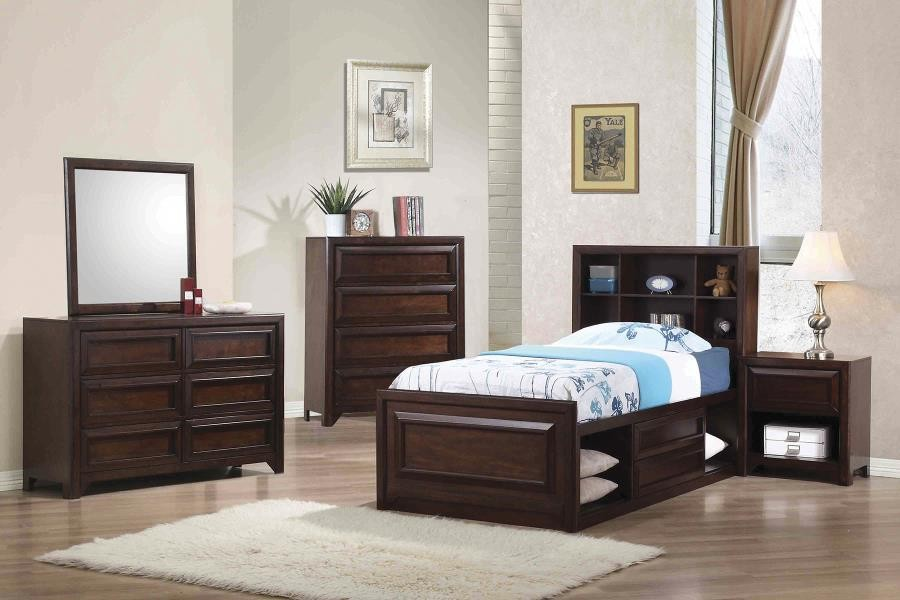 Greenough Transitional Maple Oak Twin Five Piece Set
