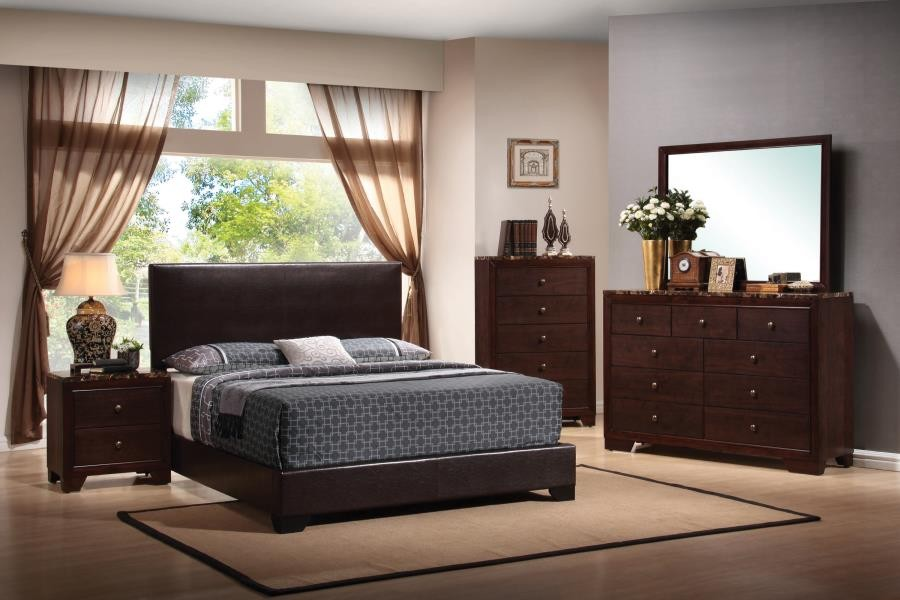 Conner Casual Dark Brown Eastern King Five-Piece Set
