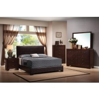 Conner Casual Dark Brown Queen Five-Piece Set